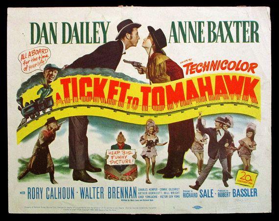 EARLY MARILYN MONROE original 1950 title lobby card A Ticket