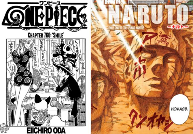 Referencias cruzadas Naruto One Piece