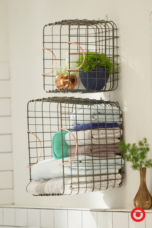 Quick hack to give yourself more shelving space in the bathroom  hang these  wire baskets57 best The Bathroom images on Pinterest   Bathroom ideas  . In The Bathroom. Home Design Ideas