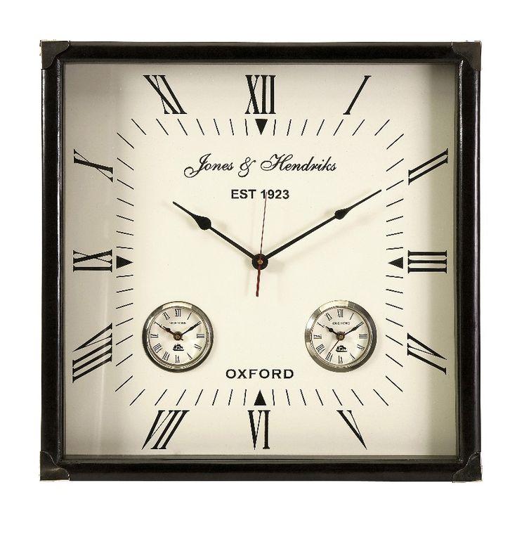 "Imax 60087 World timer Square Home Or Office Wall Clock 21"" x 21"" - Wall Clocks - Wall Decor"