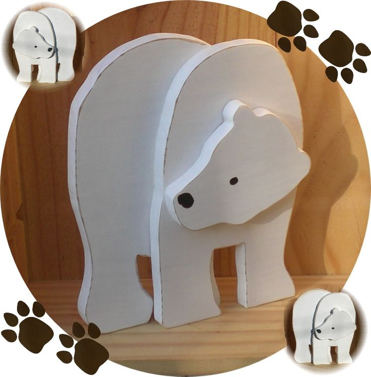 Ours blanc 3D