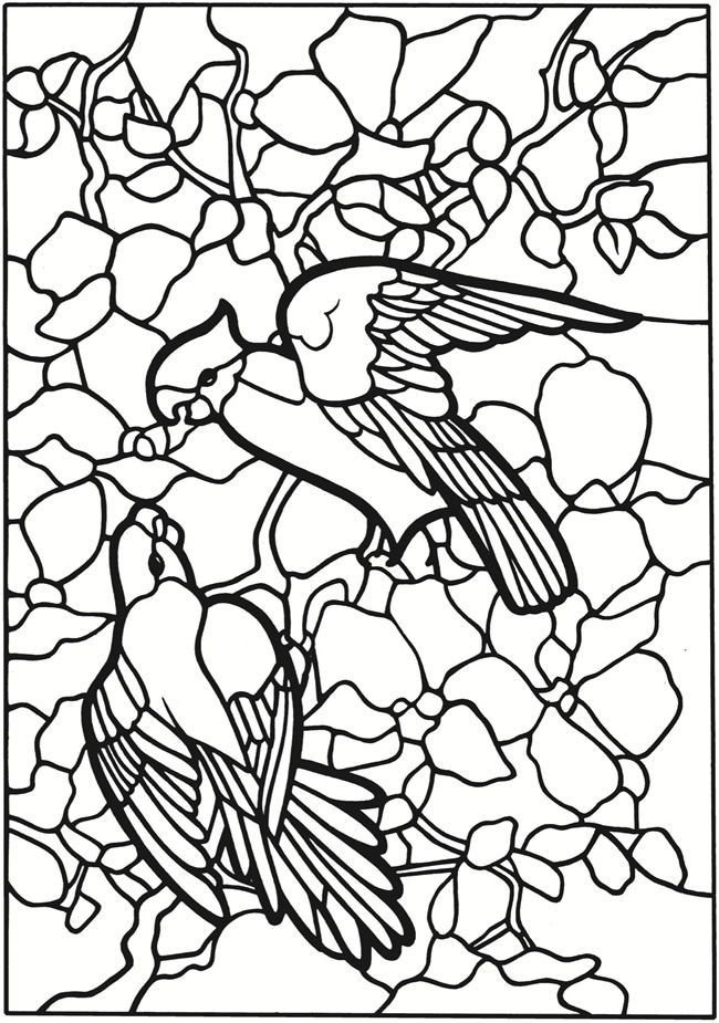 Dover Stained Glass Coloring Pages Coloring Pages