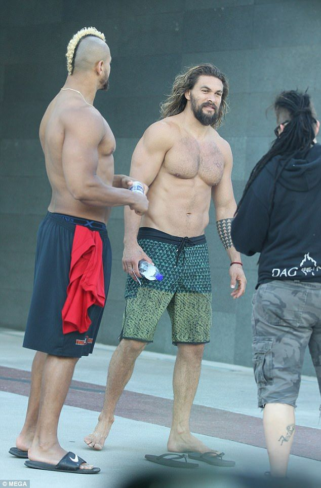 """#DailyMailUK .... """"What a hunk! On Thursday Jason Momoa was spotted shirtless as he spent time on the Gold Coast ahead of filming for Aquaman."""".... http://www.dailymail.co.uk/tvshowbiz/article-4427656/Jason-Momoa-showcases-incredible-physique.html"""