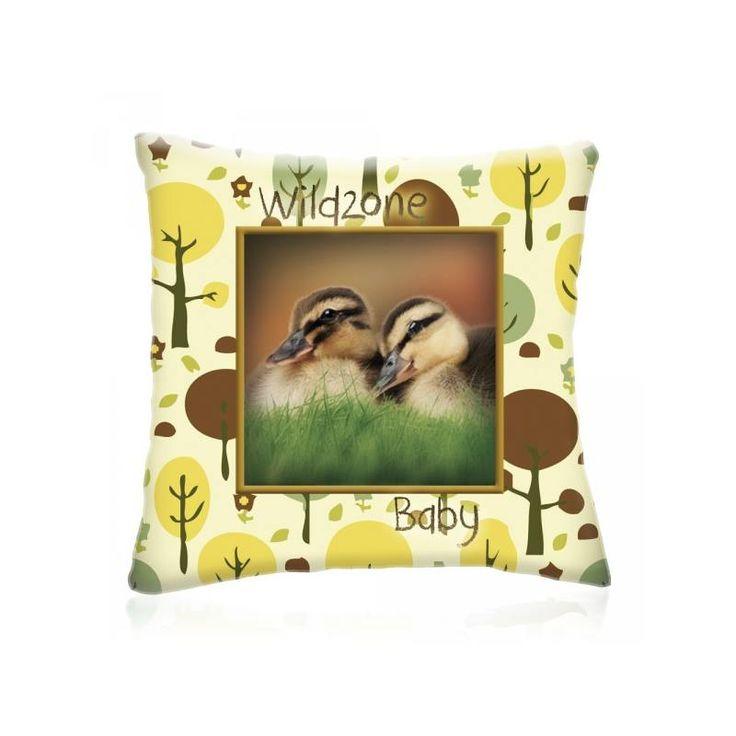 WILD ZONE Baby KISKACSÁK állatos díszpárna 28x28 cm - Díszpárna.com Webáruház