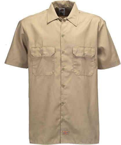 Prezzi e Sconti: #Dickies short sleeve work camicia beige  ad Euro 44.90 in #Dickies #Camicie uomo
