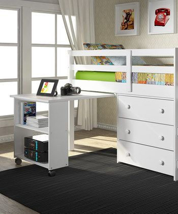 Great for kids bedrooms so they can pull out the desk when it's time to study, and slide away when it's time to play
