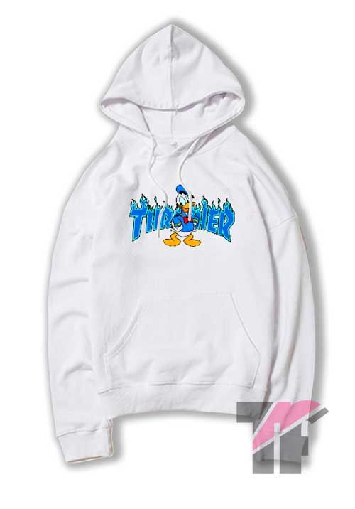 6f702f4aa3cb Donald Duck Thrasher Collab Hoodie in 2019 | Hoodie | Fashion ...