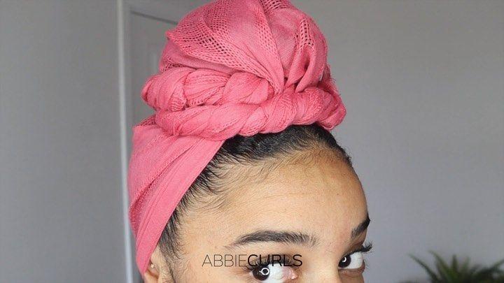 "👑 A B B I E  C U R L S 👑 on Instagram: ""Head wrap tutorial❣️ How I c…  – Hair Styles"