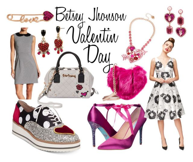 valentin day by ticci-1 on Polyvore featuring Betsey Johnson