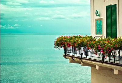 breathe: Favorite Places, Balconies, The Ocean, Patio Decks, Magic Places, Sea View, Ocean View, Flower Boxes, Heavens