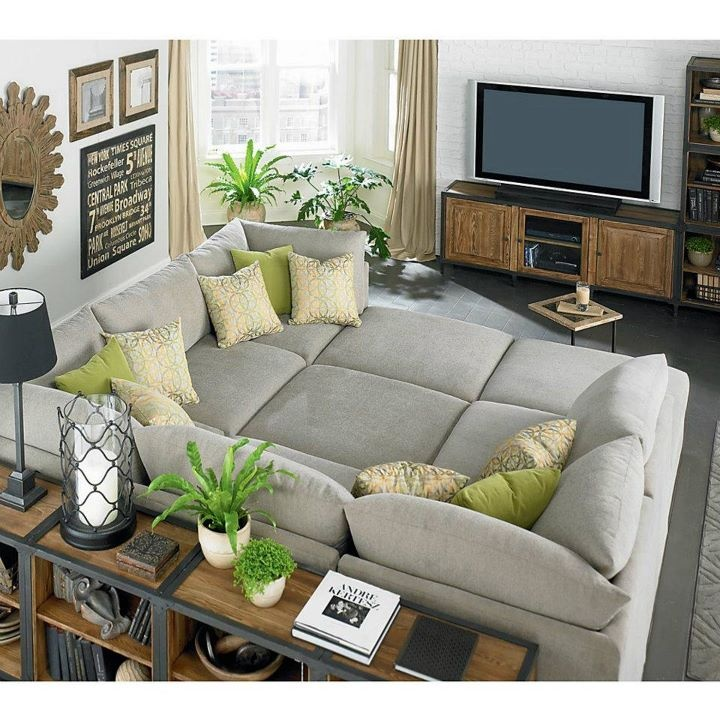 This one almost looks like a bed! My family would love this! We'd never get up! Custom Upholstered Pit Sectional