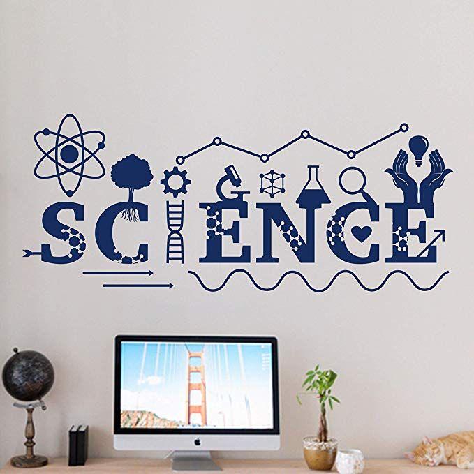 Amazon Com Wall Decals Science Wall Decal Vinyl Sticker School Education Home Office Art Design Murals Clas Vinyl Wall Decals Classroom Interior Vinyl Sticker