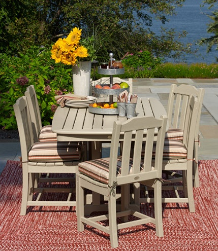 All weather outdoor furniture from LL Bean