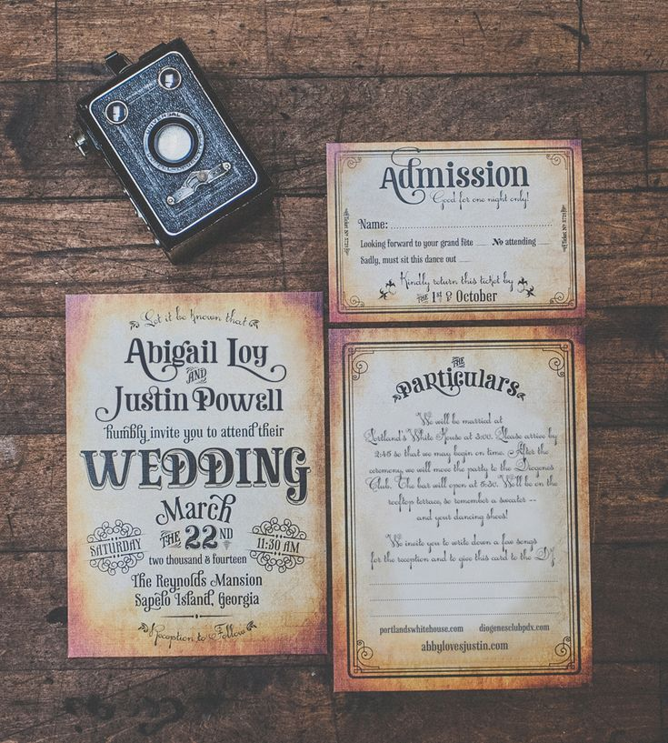 """Cotillion"" Vintage Wedding Invitation by Royal Steamline 