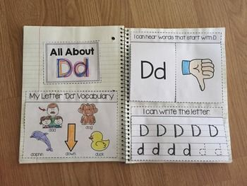 Easy Alphabet Interactive Notebooks from Simply Kinder.