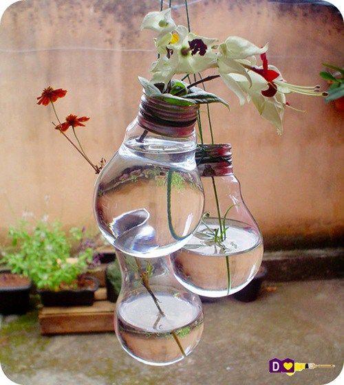 Tutorial | Vaso de Lâmpada | Casando Sem Grana