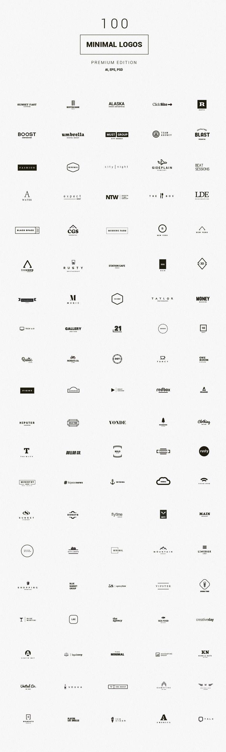 Logo Templates Product Images ~ 100 Minimal Logo… ~ Creative Market