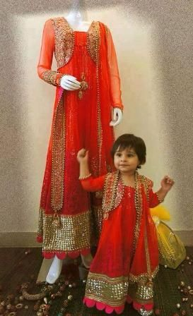 I wish people who offer anarkali suits online can also provide cute designs for young ones. Love the designer long anarkali
