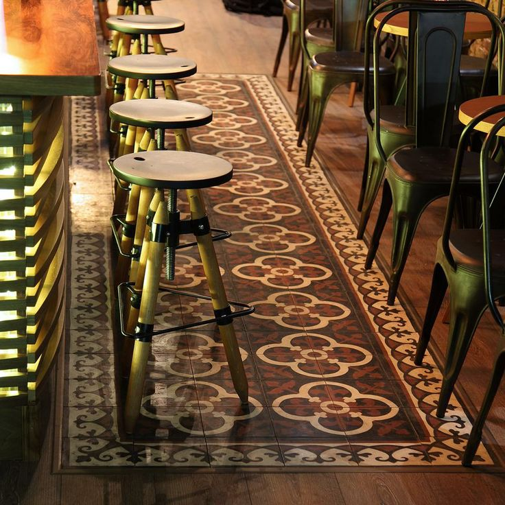 FLOOR PATTERN ODYSSEAS COLLECTION  Odysseas 255, Border: Odysseas 285          Unique cement tiles, handmade for special places and exquisite taste. http://www.tsourlakistiles.gr/ https://www.facebook.com/tsourlakistiles http://instagram.com/tsourlakistiles http://www.houzz.com/pro/tsourlakistiles/tsourlakistiles