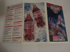 AFL Coca-Cola 1996 Centenary Footy Fixture-Home & Away Games, Admission Prices