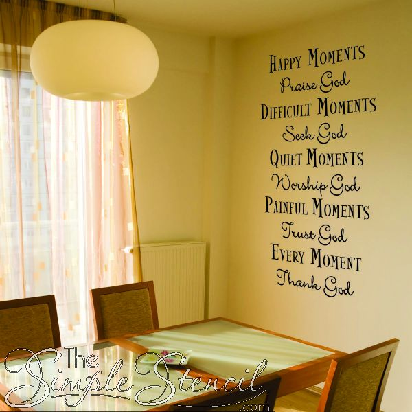 This Vinyl Wall And Window Simple Stencil Can Help Us Remember Our  Blessings. Find This Pin And More On Christian Wall Words ...