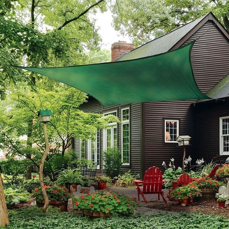 Details about Square Rectangle Sun Shade Sail Fabric Canopy Patio Awning  Cover 12'or 16'or 18' - 17 Best Ideas About Patio Sun Shades On Pinterest Patio Shade