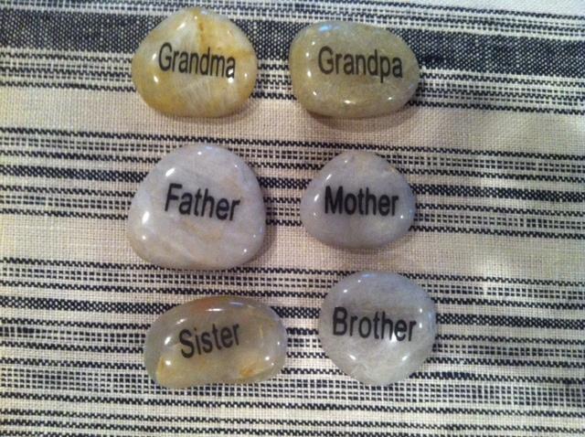 Family stones, nice way to explore family dynamics