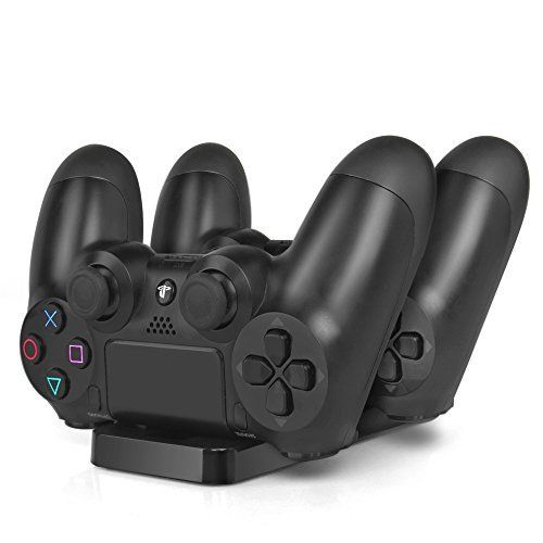 awesome PS4 Charging Station - Dual USB Charger Dock Station Cradle Stand Base for Sony Playstation 4 PS4 Dual Shock Wireless Controller with USB Cable