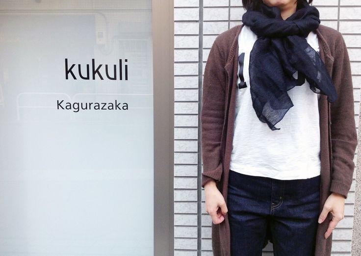 【スタッフオススメストール】 シルクキュプラ/麻ストール ¥6,000+tax  銀鼠、茶、緑、グレー、黒、紺 店頭にて販売中です。