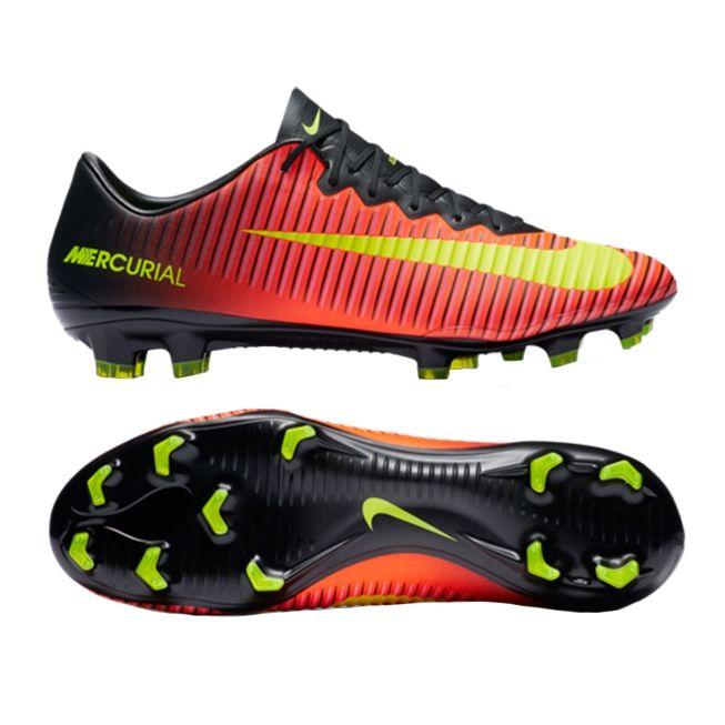 Nike Mercurial Vapor XI FG Soccer Cleats (Total Crimson/Volt/Black/Pink  Blast)