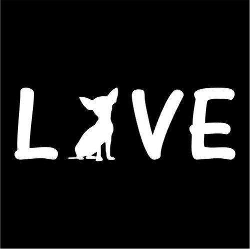I love My chihuahua Silhouett Custom Decal Sticker  http://customstickershop.com