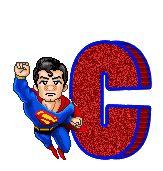Alfabeto animado de Superman de caricatura. | Oh my Alfabetos!