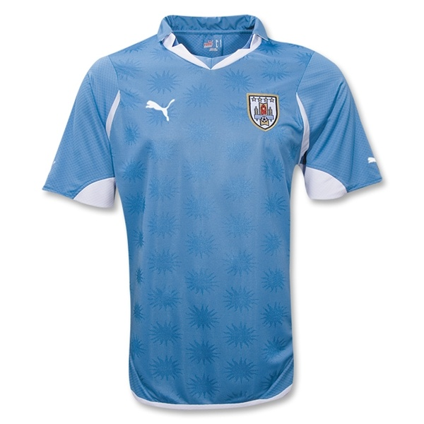 Uruguay national team home jersey 10/12. I liked this jersey even before Suarez went to Liverpool. Something about the pattern of the stars on the jersey. When you watch them play it adds a nice element to the all blue.