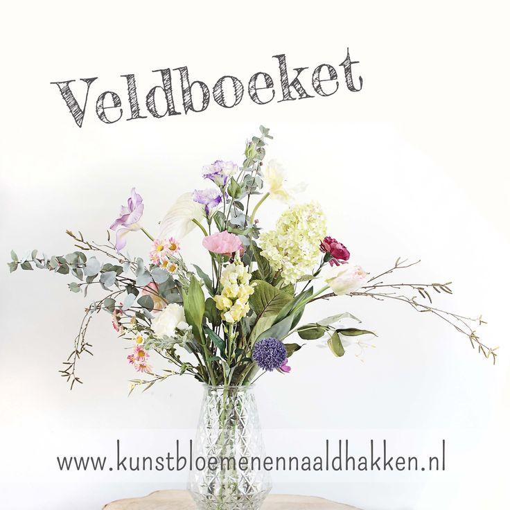 Veldboeket - Kunstbloemen en naaldhakken