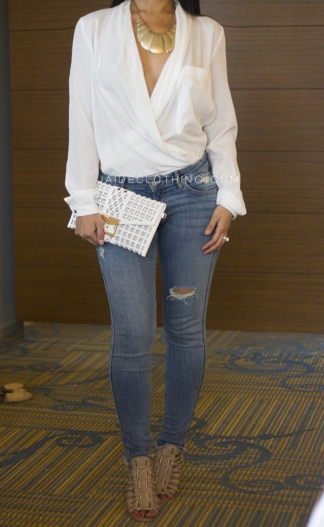 Best 25+ Dressy jeans outfit ideas on Pinterest | Jean shirt outfits Ripped jeans outfit and ...