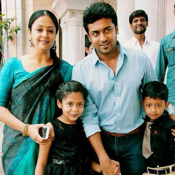 Actor Surya family photos Kollywood actor Surya Wife Jyothika