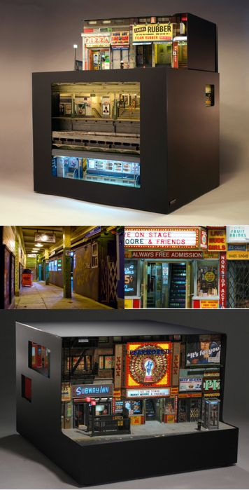 Miniature Urban Sculptures by Alan Wolfson