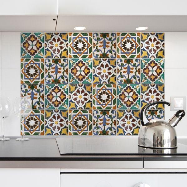 Kitchen Panel Piastrelle Verdi | Wall Stickers Decorazioni Adesive