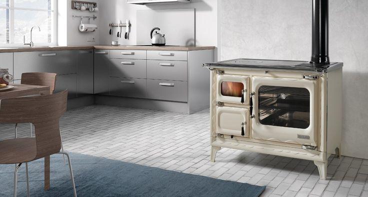 Cocinas Hergom Calefactoras | Cocina Hergom Deva Ii 100 Blanco Cuenta Con Un Sistema De Aire