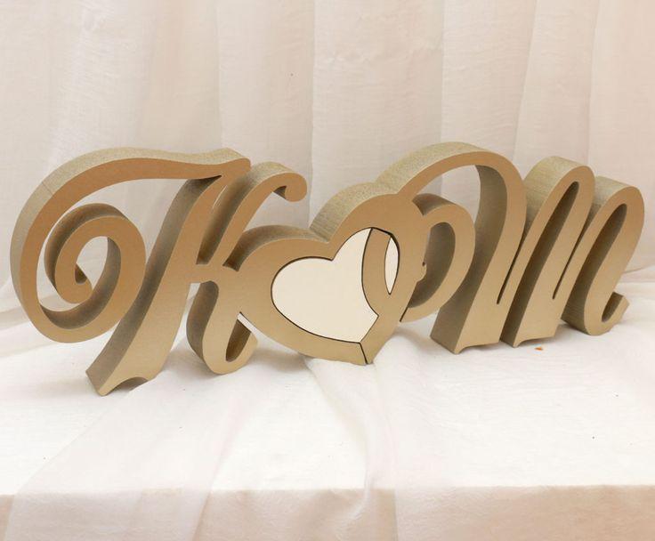 Inicjały na stół nowożeńców K_M