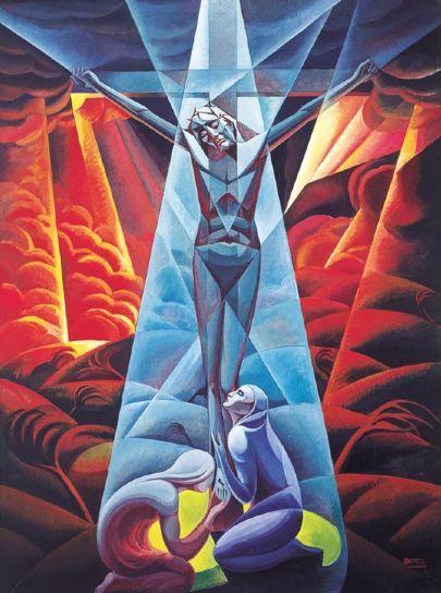 crucifixion-1928-Gerardo Dottori