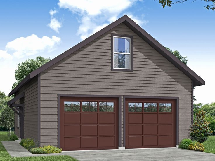 051g 0129 Two Car Garage Plan With Workshop In 2020 Garage Plans With Loft Garage Workshop Plans Garage Plan