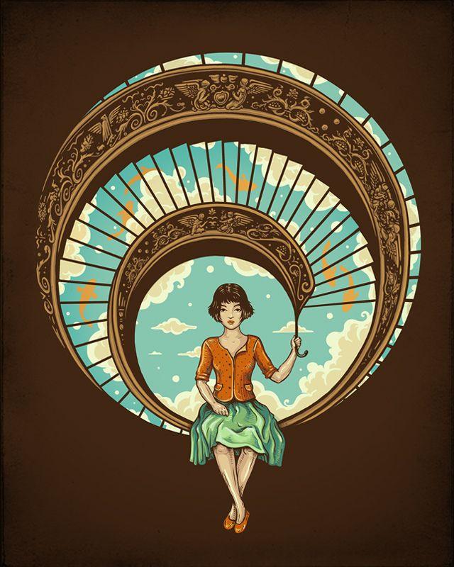 Ilustrações criativas por Enkel Dika   Criatives   Blog Design, Inspirações, Tutoriais, Web Design