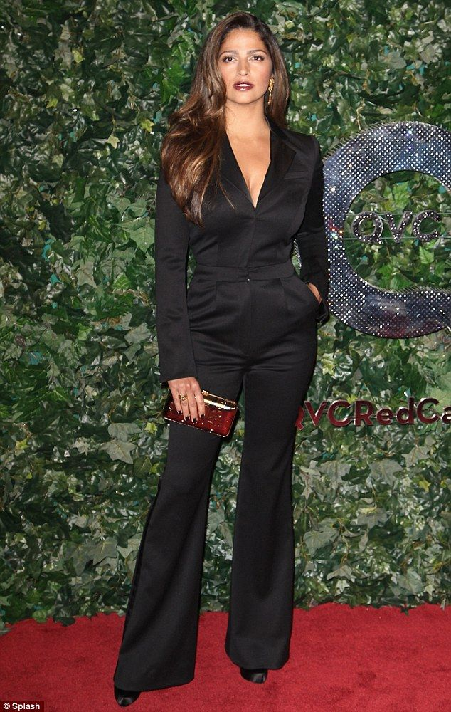 Simply stunning: Model Camila Alves stole the show at QVC's Red Carpet Style event at the Four Seasons in Beverly Hills on Friday