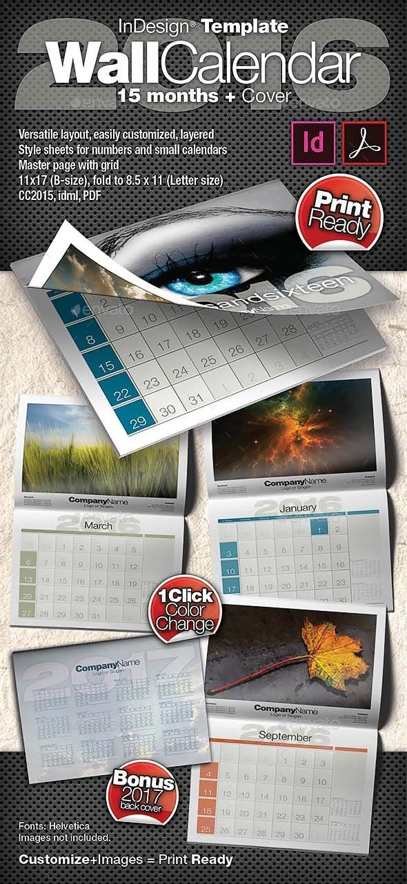2016 Corporate Calendar InDesign INDD Template #design Download: http://graphicriver.net/item/2016-corporate-calendar/12744563?ref=ksioks