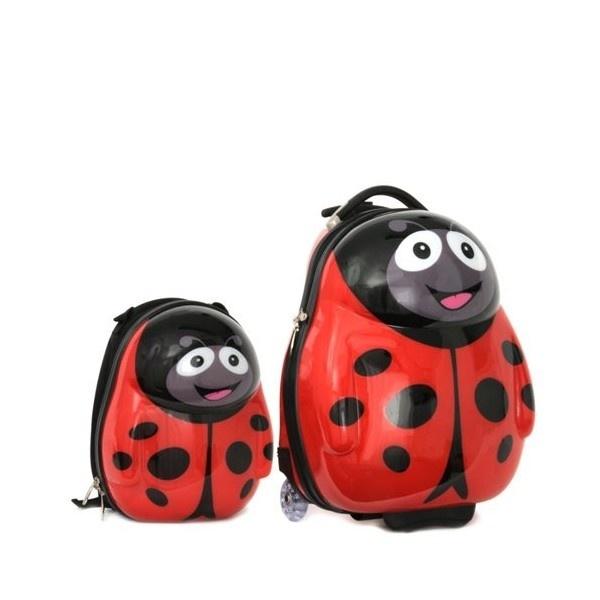 Ensemble valise à roulette et sac à dos Dino