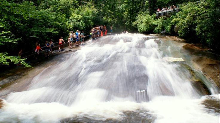 Sliding Rock, North Carolina, Pisgah National Forest near Asheville  Natural water slide Best Swimming Spot in Every State (PHOTOS) - weather.com