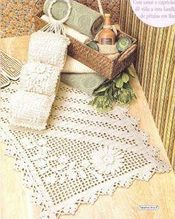 Tina's handicraft : set rugs for bathroom