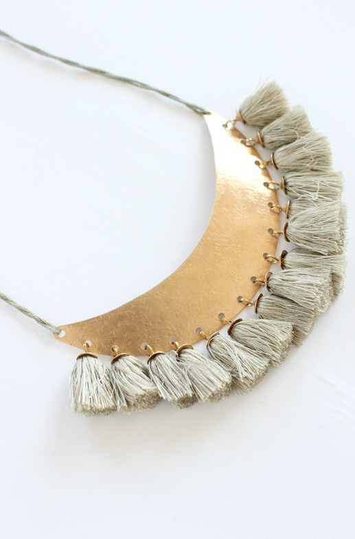 Bronze and Silk Necklace // $150.00