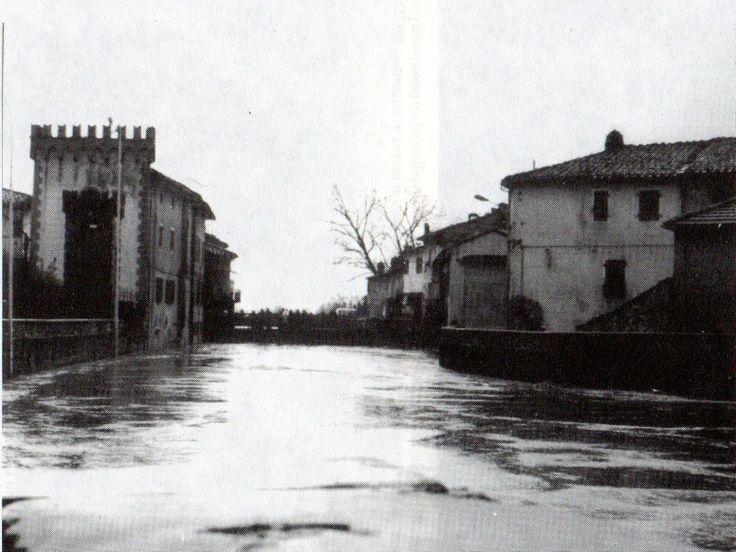 Il fiume in piena nel 1978.
